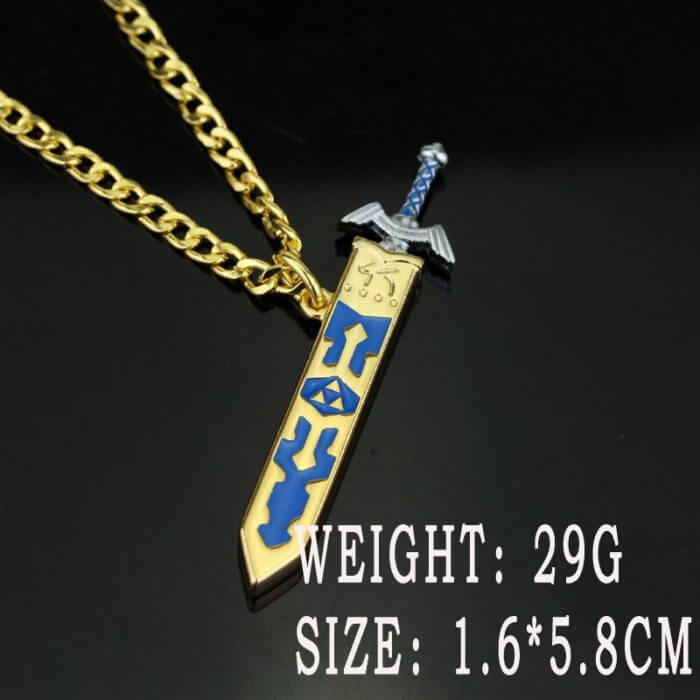 Game The Legend Of Zelda Sky Sword Cosplay Costume Necklace Props Golden Sheath Sword Alloy Cartoon Pendant Gift Accessories 6