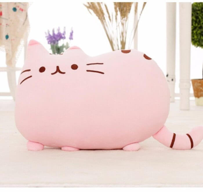 40*30cm Kawaii Cat Pillow With Zipper Only Skin Without PP Cotton Biscuits Plush Animal Doll Toys Big Cushion Cover Peluche Gift 6