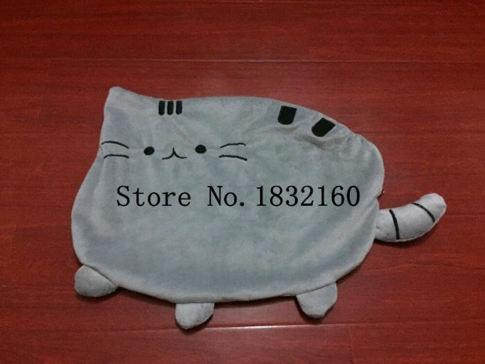 40*30cm Kawaii Cat Pillow With Zipper Only Skin Without PP Cotton Biscuits Plush Animal Doll Toys Big Cushion Cover Peluche Gift 3