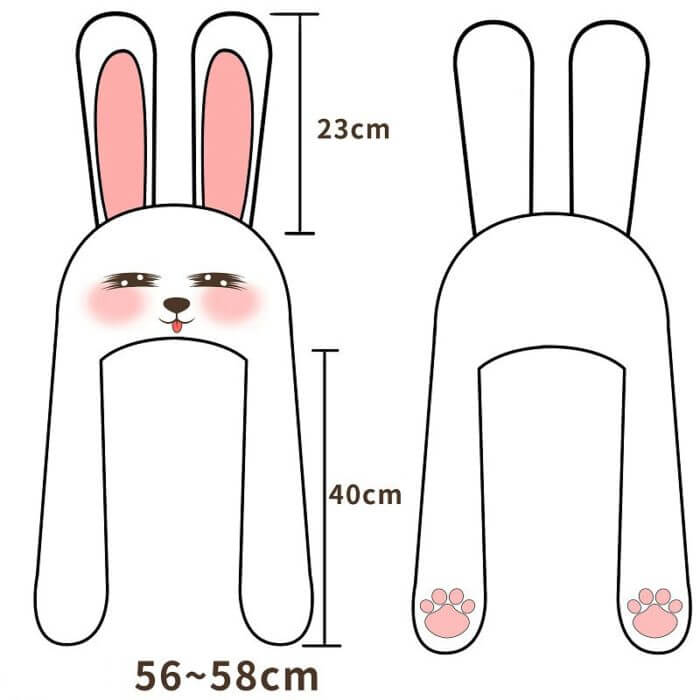 2020 New Cartoon Hats Moving Ears Cute Rabbit Toy Hat Airbag Kawaii Funny Hat for Girls Cap Kids Plush Toy Christmas Gift 2