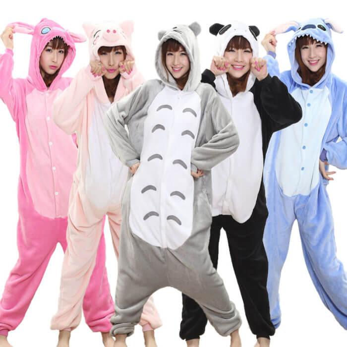Totoro Kigurumi Onesie Adult Animal Unicorn Pajamas Suit Warm Soft Stitch Sleepwear Onepiece Winter Jumpsuit Pijama Cosplay 1