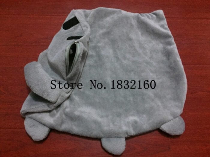 40*30cm Kawaii Cat Pillow With Zipper Only Skin Without PP Cotton Biscuits Plush Animal Doll Toys Big Cushion Cover Peluche Gift 5
