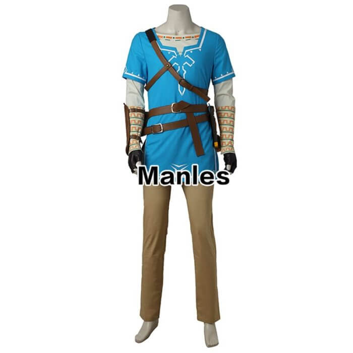 The Legend of Zelda Breath of the Wild Link Cosplay Costume Anime Uniform Halloween Carnival Cosplay Adult Men Blue Shirt Unisex 2