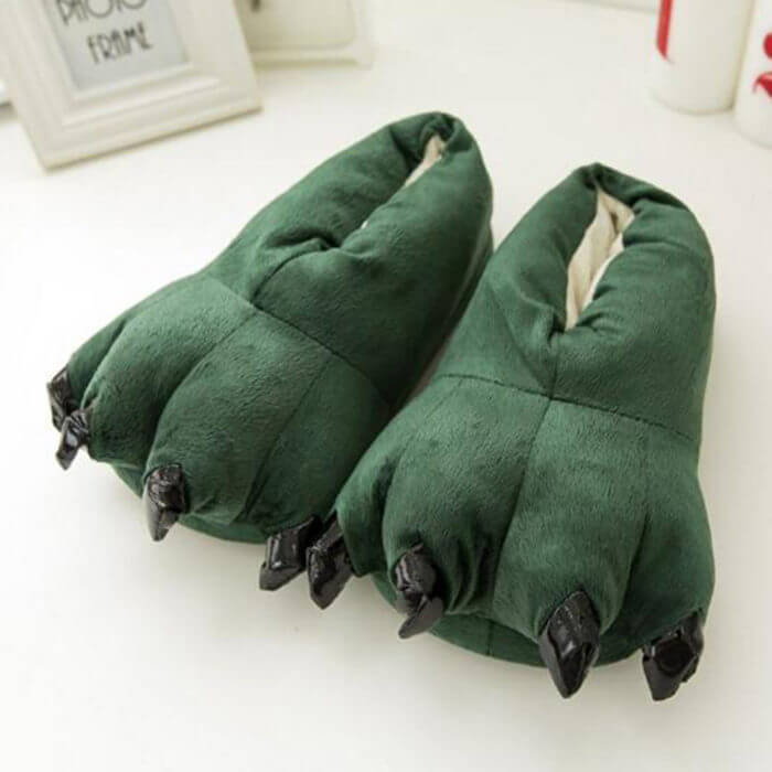 2018 Winter Warm Soft indoor floor Slippers Women Men Children Shoes Paw Funny Animal Christmas Monster Dinosaur Claw Plush Home 4