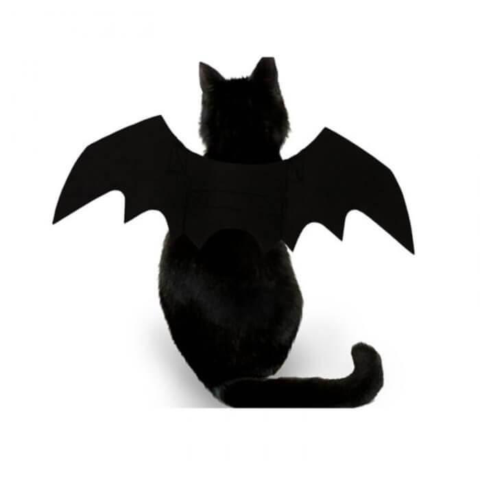 2019 neue OLN Pet Hund Katze Fledermaus Flügel Cosplay Prop Halloween Bat Phantasie Kleid Kostüm Outfit Flügel Katze Kostüme Foto requisiten Headwear 4