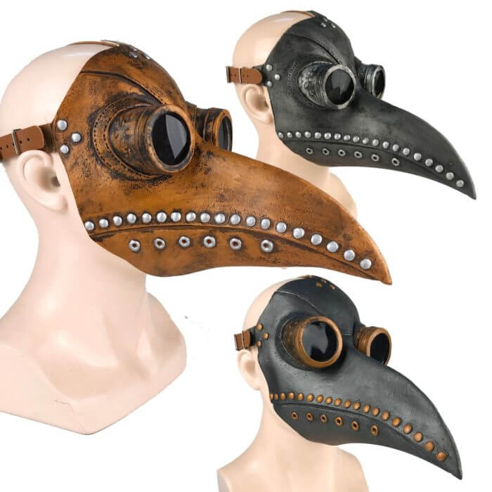 Lustige Medieval Steampunk Pest Arzt Vogel Maske Latex Punk Cosplay Masken Schnabel Erwachsene Halloween Event Cosplay Requisiten 1