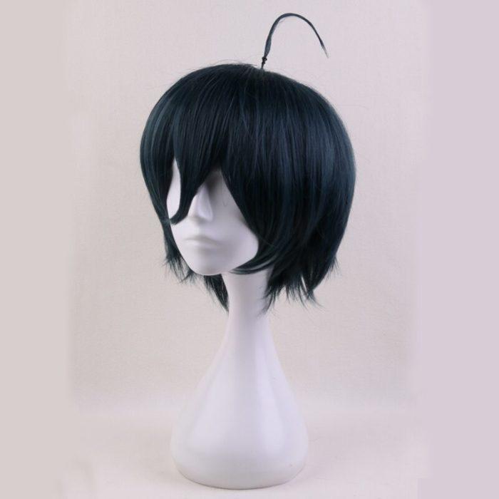 Anime Danganronpa V3: Tötung Harmonie Saihara Shuichi Kurze Perücke Cosplay Kostüm Dangan Ronpa Wärme Beständig Haar Männer Perücken 3