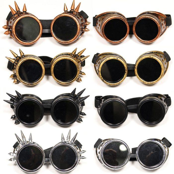 Danganronpa V3 Iruma Miu Cosplay gläser Prop Gothic Cosplay Niet Steampunk Brille Gläser Schweißen Punk 2