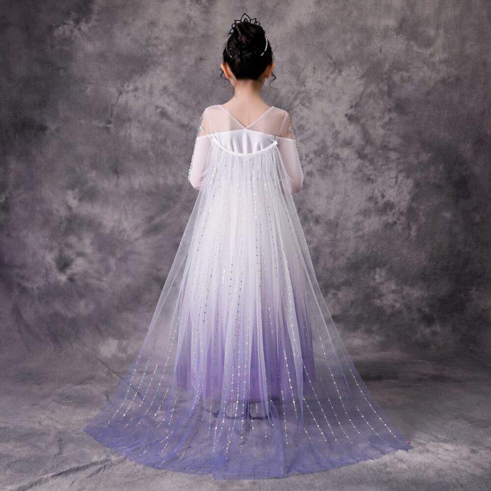 Top Schnee Königin Baby Mädchen Weiß Elsa Kleid Anna Elsa Cosplay Kostüm Sommer Prinzessin Kleid Halloween Geburtstag Party Hochzeit Kleid 4