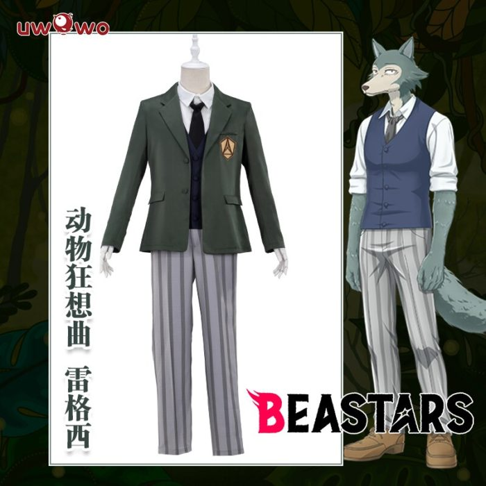 UWOWO Anime Beastars Legosi Cosplay Kostüm Uniform Kühlen Anzug Grau Wolf Kostüm 2