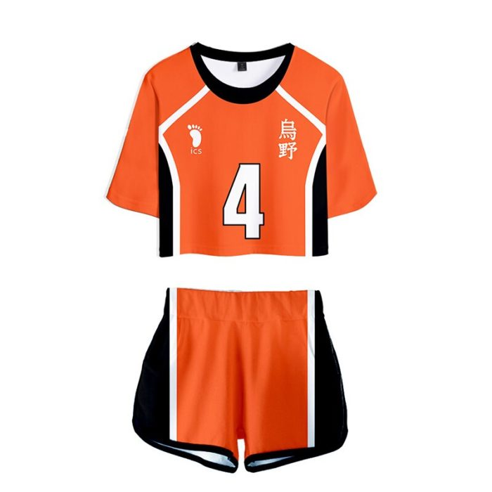 Haikyuu Cosplay Kostüm Hinata Shoyo Hemd Shorts Nishinoya Yuu Uniform Sport Karasuno Koukou Hohe Schule Volleyball Club Frauen 5