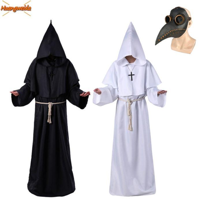 Pest Arzt Kostüm für Männer Cosplay Karneval Halloween Kostüm für Männer Erwachsene Pest Arzt Maske Dampf Punk Zubehör Latex 1