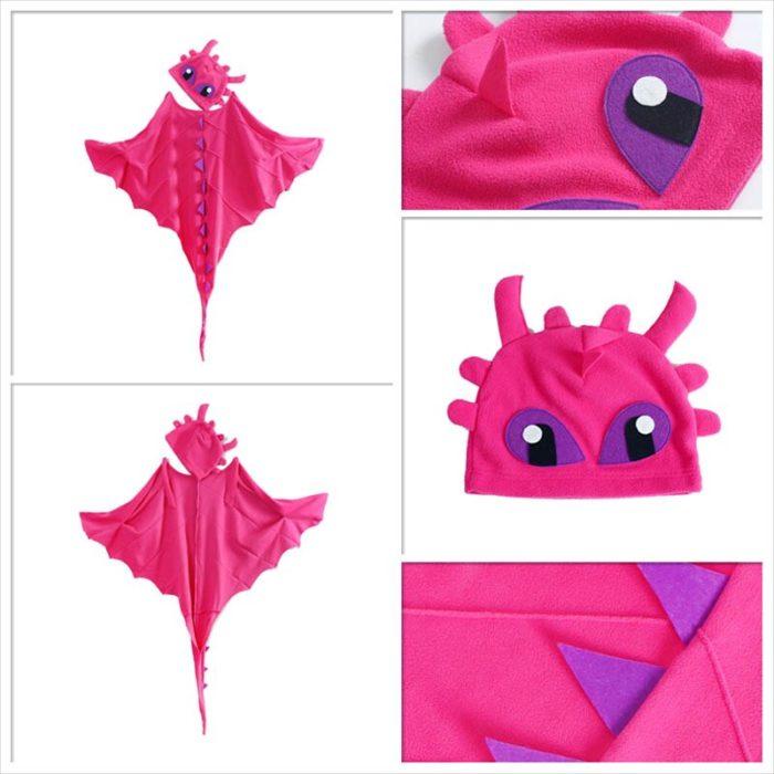 Drachen Kostüm Mantel mit Hut Zahnlos Drache Kostüm Cape Anime Cosplay Kostüme Dinosaurier Kostüm 3