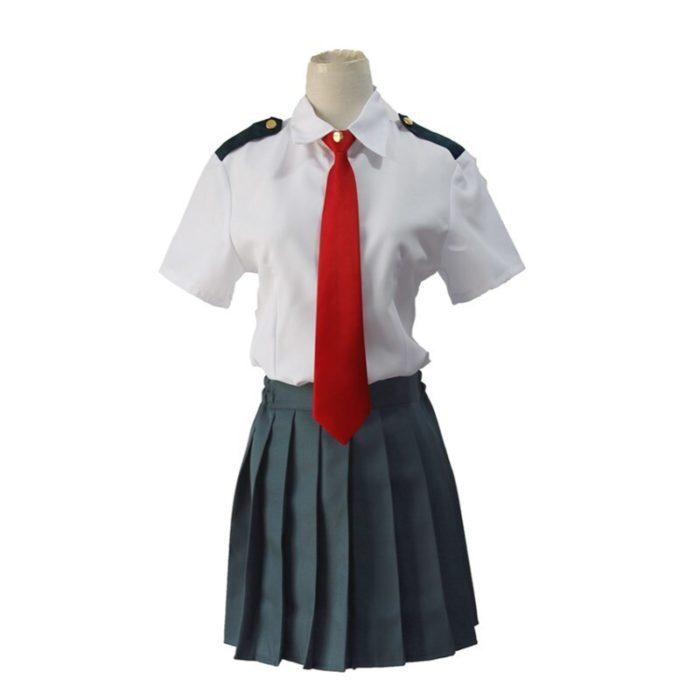 Mein Hero Wissenschaft Midoriya Izuku Cosplay Kostüm Boku Keine Hero Wissenschaft OCHACO URARAKA AsuiTsuyu Sommer Schuluniform 4