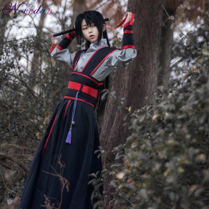 Anime Dao Mo Zu Shi Cosplay Wei Wuxian Jiang Cheng Kostüm Großmeister von Dämonische Anbau Mo Dao Zu Shi Cosplay kostüm Männer 4