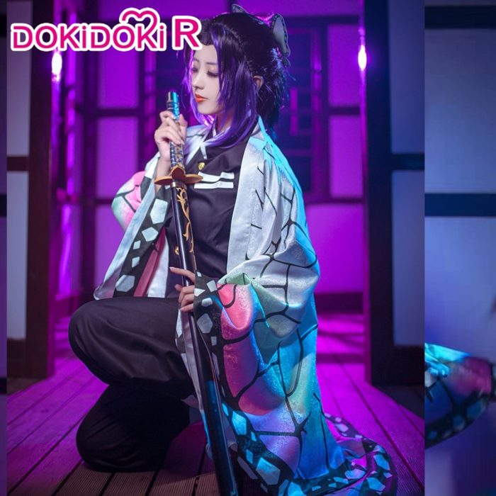 DokiDoki-R Anime Cosplay Dämon Slayer: kimetsu keine Yaiba Kochou Shinobu Kostüm Halloween Frauen Kostüm Kimetsu keine Yaiba Cosplay 1