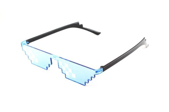 ES Mosaik Sensation Sterne Liebe Pixel Gläser Cosplay Kostüme Zubehör Brillen ACG Boss Thug Life Erwachsene Kinder Sonnenbrille 7