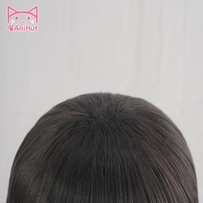 【AniHut】Yugi Amane Perücke Wc-gebunden Hanako-kun Cosplay Hitze Beständig Synthetische Schwarz Yugi Amane Haar 5
