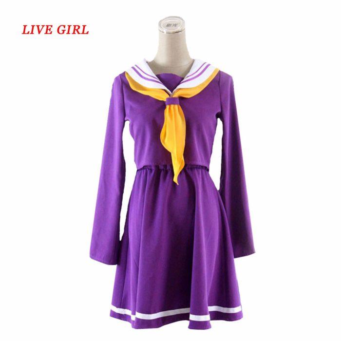 Kein spiel kein leben cosplay Shiro kostüm halloween frauen kleidung carival kleid perücken sailor anzug Japanische schuluniform 1