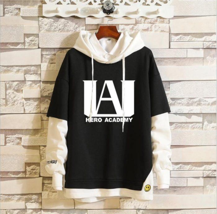 Mein Boku keine Hero Wissenschaft Midoriya Izuku Todoroki Shoto Sportswear Sweatshirts Top Gefälschte Zwei Stück Cosplay Kostüm Pullover Hoodie 1