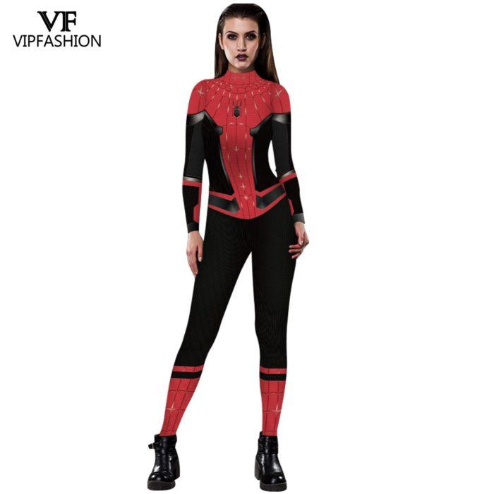 VIP MODE Lycra Spinne Cosplay Kostüm Superhero Zentai BodySuit Eisen Spinne Overall Für Halloween Kostüm 3