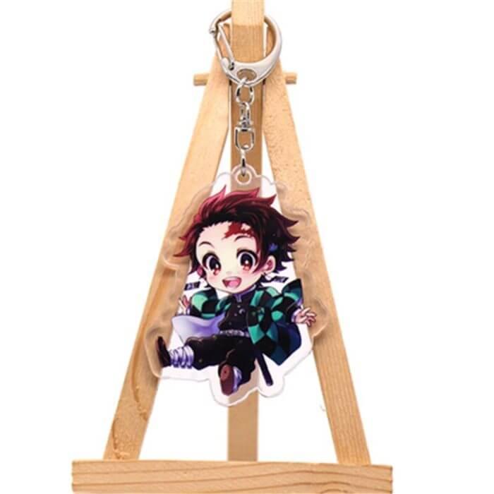 Anime Dämon Slayer Kimetsu Keine Yaiba Kamado Tanjirou Cosplay Prop Zubehör Keychain Kamado Nezuko Acryl Schlüssel Kette Schlüsselring 2