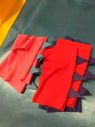 Lustige Halloween Kostüme Dinosaurier Cosplay Cape mit Handschuhe Doppel Seite Farben Geburtstag Party 6