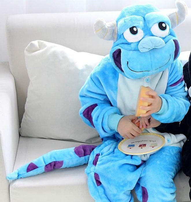 Kinder Kigurumi Kinder pyjamas Winter Flanell Tier pyjamas einem stück Kaninchen Totoro Stich Panda Cosplay baby Junge mädchen pyjamas 9