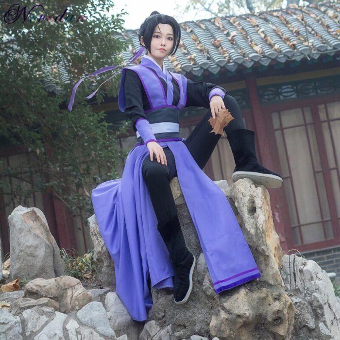Anime Dao Mo Zu Shi Cosplay Wei Wuxian Jiang Cheng Kostüm Großmeister von Dämonische Anbau Mo Dao Zu Shi Cosplay kostüm Männer 6