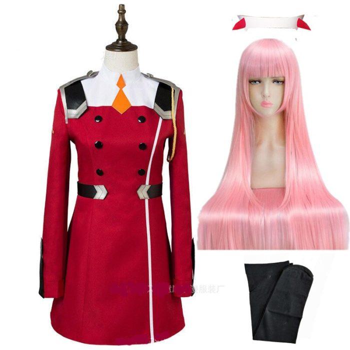 02 null Zwei Cosplay Kostüm LIEBLING in die FRANXX Cosplay DFXX Frauen Kostüm Volle Sets Kleid 2