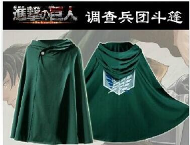 Mode Anime keine Kyojin Mantel Cape Kleidung Cosplay Kostüm Fantasia Angriff auf Titan Plus Freies verschiffen 4