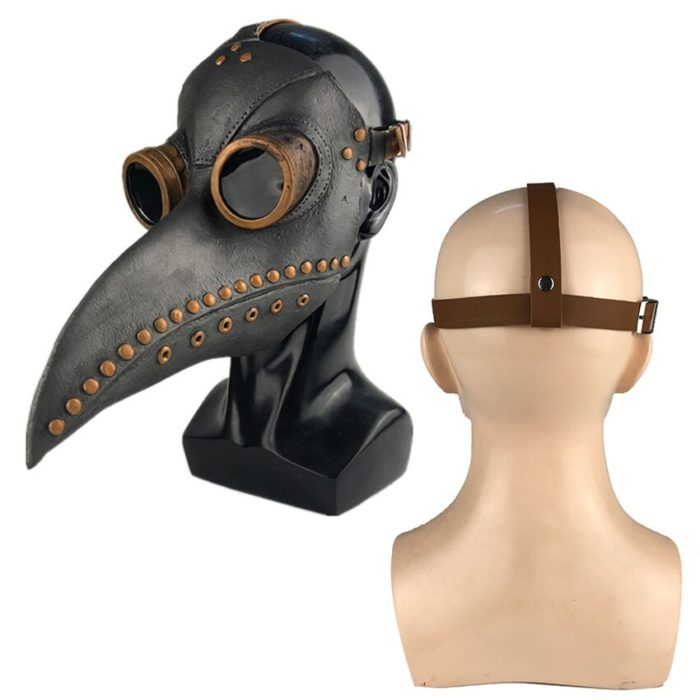 Pest Arzt Kostüm für Männer Cosplay Karneval Halloween Kostüm für Männer Erwachsene Pest Arzt Maske Dampf Punk Zubehör Latex 3