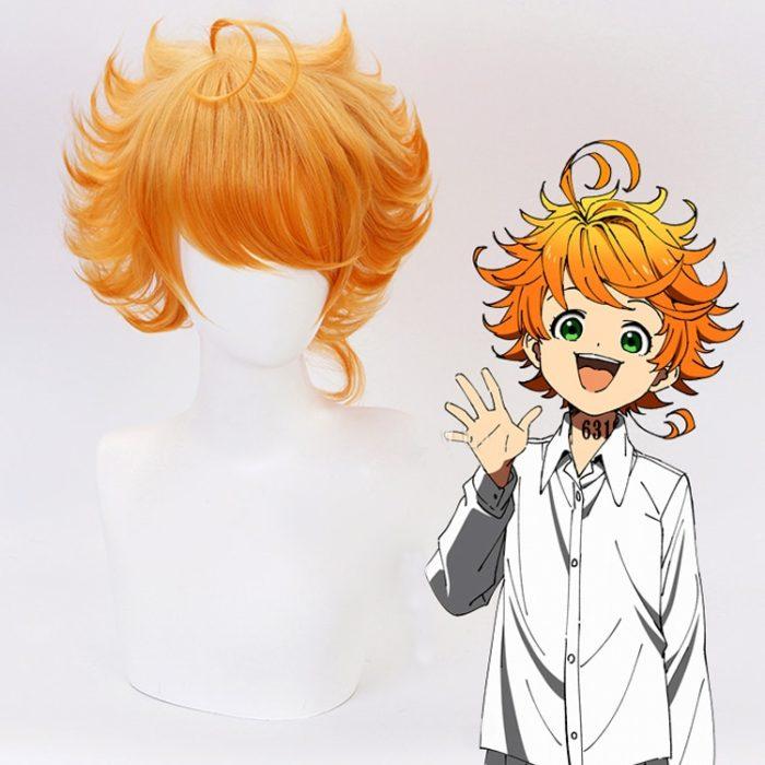 Emma Cosplay Perücke Anime Yakusoku keine Nimmerland Die Versprochen Nimmerland 63194 Orange Wärme Beständig Synthetische Haar Perücken + Perücke Kappe 1
