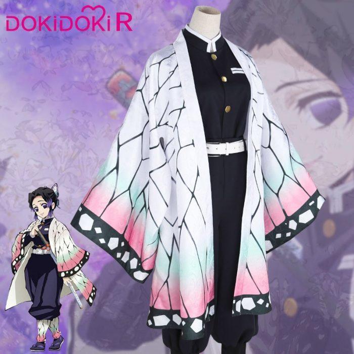 DokiDoki-R Anime Cosplay Dämon Slayer: kimetsu keine Yaiba Kochou Shinobu Kostüm Halloween Frauen Kostüm Kimetsu keine Yaiba Cosplay 2