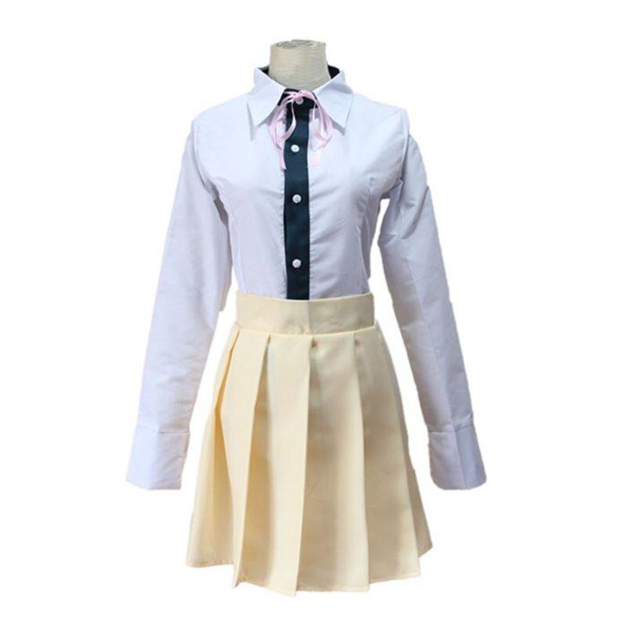 Super DanganRonpa 2 Dangan Ronpa Cosplay Chiaki Nanami Uniformen Jacke Hemd Krawatte Rock Für Frauen Cosplay Kostüm Perücken 4