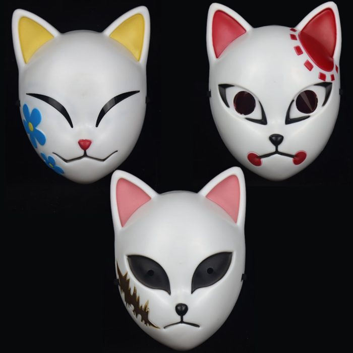 Japanischen Anime cosplay Masken Halloween Maske Dämon Slayer Kimetsu keine Yaiba Maske Kamado Tanjirou Sabito Cosplay Party Requisiten 5