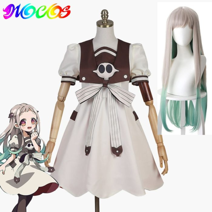 DIOCOS Anime Jibaku Shounen Hanako kun Nene Yashiro Cosplay Kostüm Perücke Frauen Kleid für Halloween-Party 1