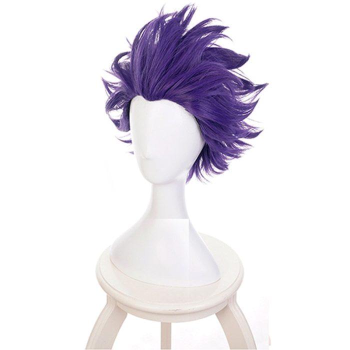 Boku keine Hero Wissenschaft Shinsou Hitoshi Shinso Perücke Cosplay Kostüm Mein Hero Wissenschaft Kurze Lila Perücken Synthetische Haar + Perücke kappe 2