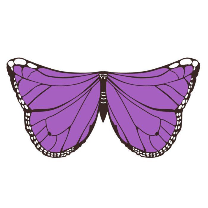Drachen Kostüme Schmetterling Flügel Vogel Cosplay Ara Elster Inspiriert Flügel Kinder Kostüm Blau Rot 5