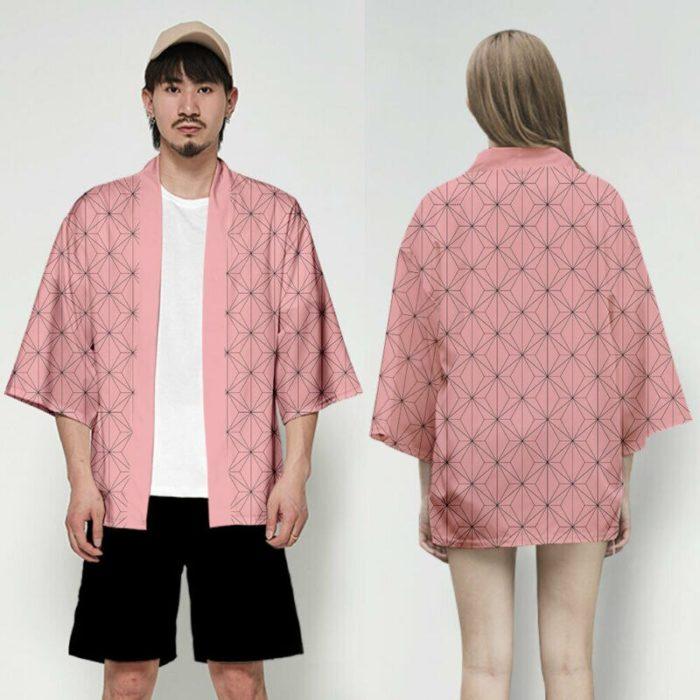 Unisex Dämon Slayer Kimetsu keine Yaiba Zeichen Cosplay Kimono Haori Mantel Shirt 6