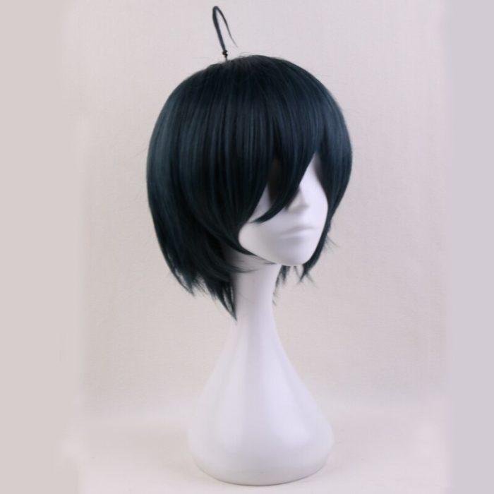 Anime Danganronpa V3: Tötung Harmonie Saihara Shuichi Kurze Perücke Cosplay Kostüm Dangan Ronpa Wärme Beständig Haar Männer Perücken 2