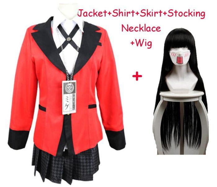 Anime Kakegurui Cosplay Figur Yomotsuki Runa Cosplay Kostüm JK Schule Mädchen Einheitliche Hoodie Halloween Kleid Für Frauen 8
