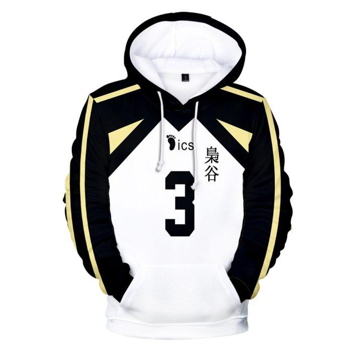 Japan Anime Haikyuu Cosplay Kostüm Fukurodani Akademie Volleyball Club Akaashi Keiji Bokuto Koutarou Unisex 3D Hoodie Sweatshirt 5
