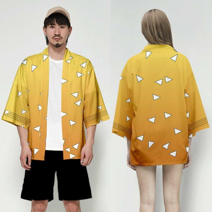Unisex Dämon Slayer Kimetsu keine Yaiba Zeichen Cosplay Kimono Haori Mantel Shirt 2