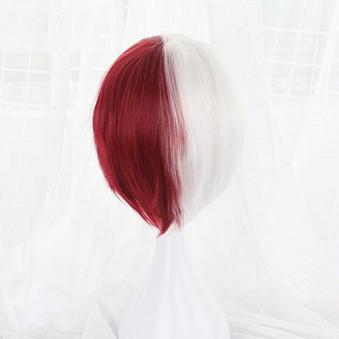 Mein Hero Wissenschaft Boku keine Hiro Akademia Shoto Todoroki Shouto Weiß Und Rot Cosplay Perücke + Perücke Kappe 4