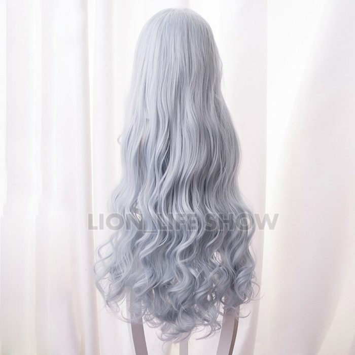 Boku no My Hero Academia Eri Chisaki Woman Gray Blue Wig Cosplay Heat Resistant Synthetic Wigs+free Wig Cap 3