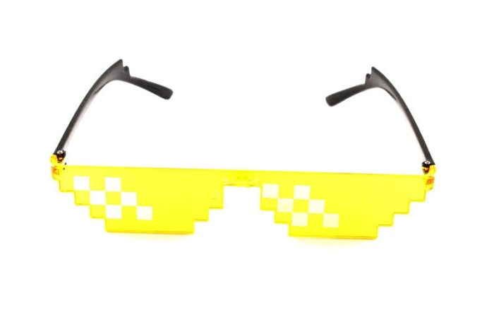 ES Mosaik Sensation Sterne Liebe Pixel Gläser Cosplay Kostüme Zubehör Brillen ACG Boss Thug Life Erwachsene Kinder Sonnenbrille 11