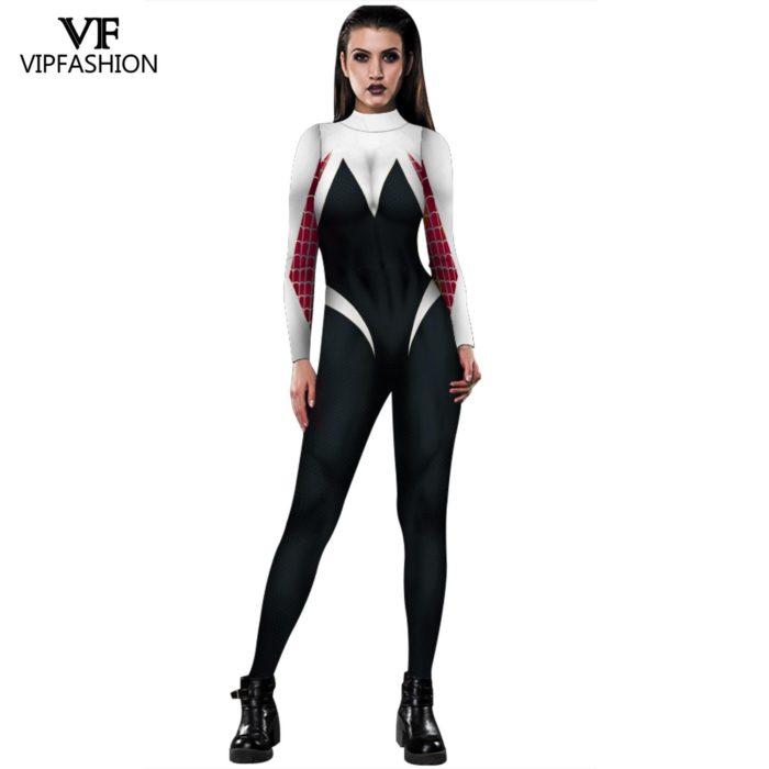 VIP MODE Lycra Spinne Cosplay Kostüm Superhero Zentai BodySuit Eisen Spinne Overall Für Halloween Kostüm 6