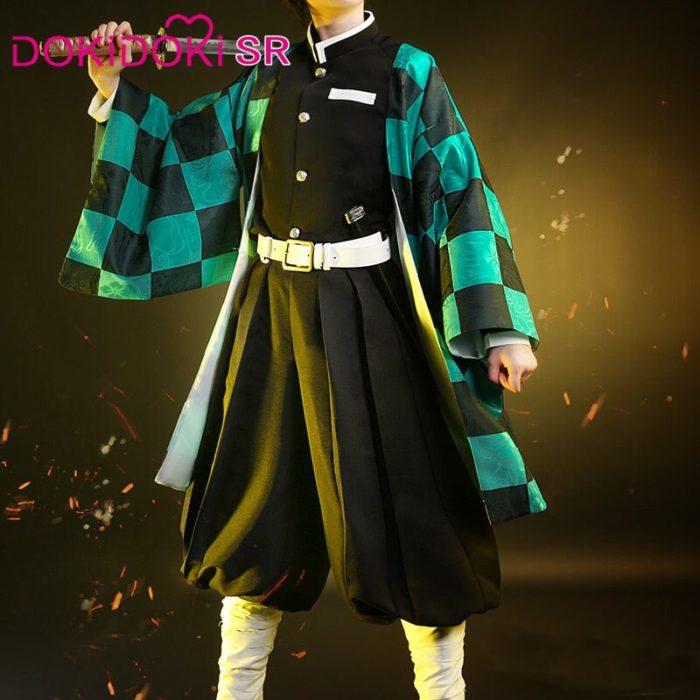 DokiDoki-SR Anime Cosplay Dämon Slayer: kimetsu keine Yaiba Cosplay Kamado Tanjirou Cosplay Dämon Slayer Kimetsu keine Yaiba Kostüm 4
