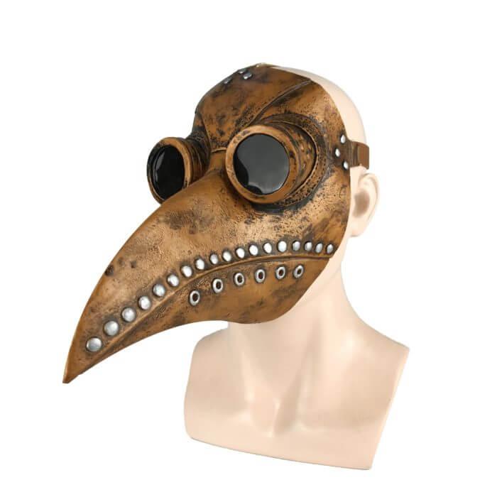 Lustige Medieval Steampunk Pest Arzt Vogel Maske Latex Punk Cosplay Masken Schnabel Erwachsene Halloween Event Cosplay Requisiten 6